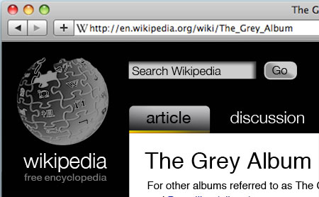 Wikipedia Redesign - Search and Logo