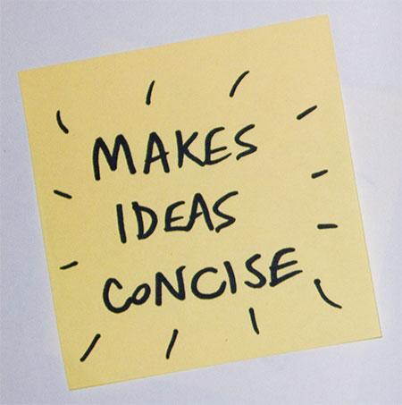 Makes ideas concise