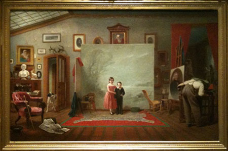 Thomas Le Clear, Interior with Portraits, 1865