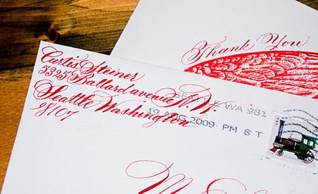 Curtis Steiner Thank You Envelope