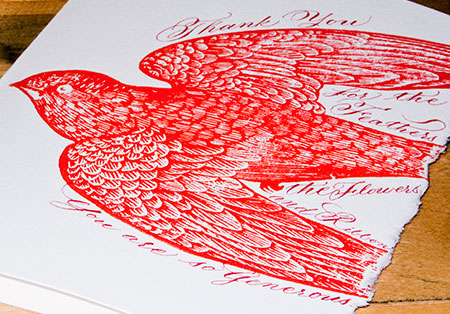 Curtis Steiner Handmade Thank You Card