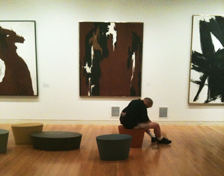 Asleep at the Gallery