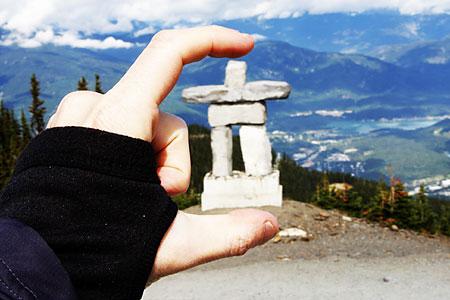 2010 Olympic Logo on Whistler Peak, Canada, September 2008